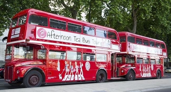 伦敦双层巴士英式下午茶体验(纵览地标景点 双层点心