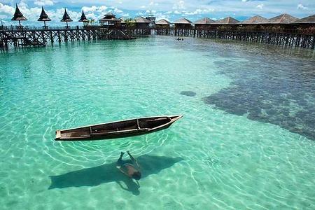马来西亚 仙本那海岛一日游(马达京 汀巴汀巴岛 邦邦岛) 体验深潜2次