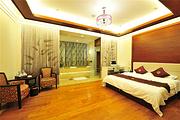 错峰游  福州市区源脉温泉酒店高级大床1间+房间带独立泡池+双早+2张温泉票