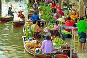 中文品质团 曼谷丹嫩沙多水上市场+美功铁道市场半日游可选骑大象