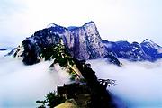 华山北峰往返探险一日游赠祈福丝带+登山手套+矿泉水