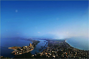 惠州双月湾檀悦豪生度假酒店双人自驾游:高级海景房1晚(带泡池)+早餐+沙滩