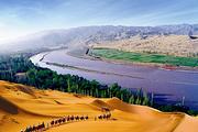 兰州周边二日游 兰州到沙坡头 金沙岛花海 通湖草原2日游 中国的普罗旺斯