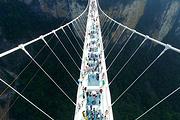 湘潭到张家界大峡谷玻璃桥、天门山玻璃栈道挑战新奇之旅纯玩二日游C等