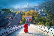 (宿五峰宾馆)天津到五台山拜佛2日游,拜五爷许心愿,求文殊增智慧,含养生素斋