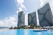 惠东双月湾享海温泉度假酒店豪华海景房1晚+双早+私家沙滩+畅游无边际泳池