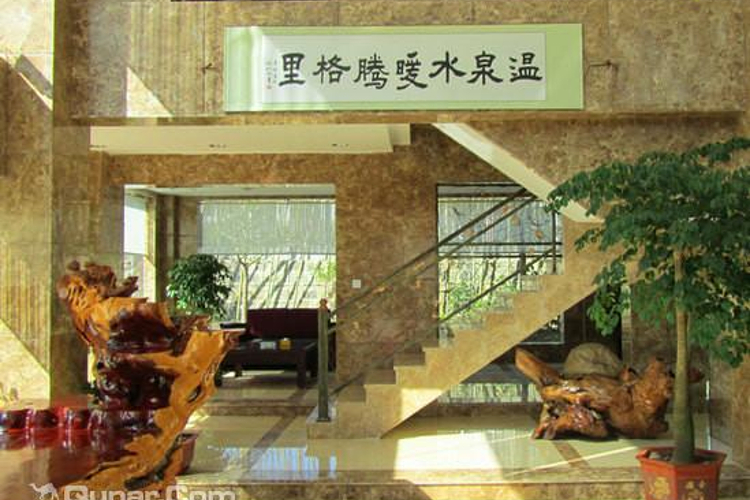 腾格里温泉别墅酒店大泡池旅游