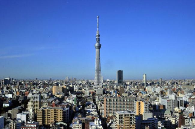 外国城市午后风景