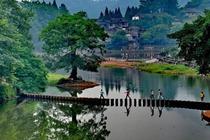 柳江感受慢生活+玩瓦屋山,感受 0 污染天然大氧吧+槽渔滩观青衣江畔千塔佛国