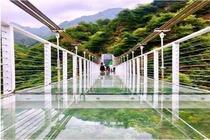 <兰州大墩峡冰瀑-玻璃桥-河口古镇1日游>游最美冰雪峡谷,访灵秀河口古镇