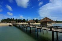 湛江特呈渔岛度假村-风情小木屋两天游!含2人上下岛船票+温泉+私家沙滩