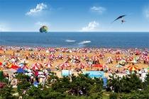 <暑期预热>日照金沙滩2日游 含海之秀表演+龙舟+骑行+东夷小镇 纯玩无购物