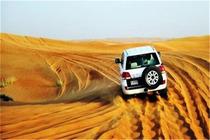 迪拜沙漠冲沙一日游(丰田巡洋舰+高品质红沙+骑骆驼+肚皮舞表演)