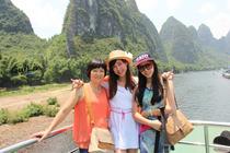 自然风旅行、桂林漓江三星豪华船1日游、酒店接送码头+精致船餐+赠5日返桂交通