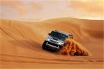 迪拜沙漠冲沙一日游(美国悍马+高品质红沙+骑骆驼+肚皮舞表演)