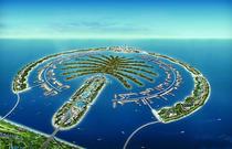 迪拜直升机观光一日游  飞机俯瞰壮观棕榈岛世界岛迪拜哈利法塔 棕榈岛