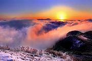 郴州回龙山云海雾凇+小东江自行车+高椅岭飞拉达+一线天游船采摘冰糖橙