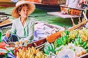 泰国 曼谷安帕瓦水上市场+美功铁道市场+萤火虫半日游(中文导游)