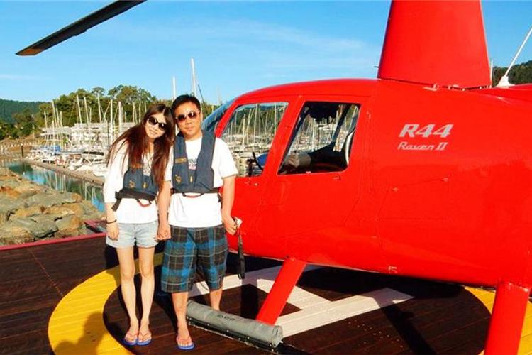 圣灵群岛礁直升机1小时飞行+心形大堡礁+白天堂沙滩+艾尔利滩/汉密尔顿岛接送