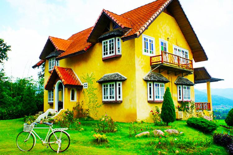 小清新之旅童话清迈拜县一日游草莓园+浪漫小黄屋+大树秋千