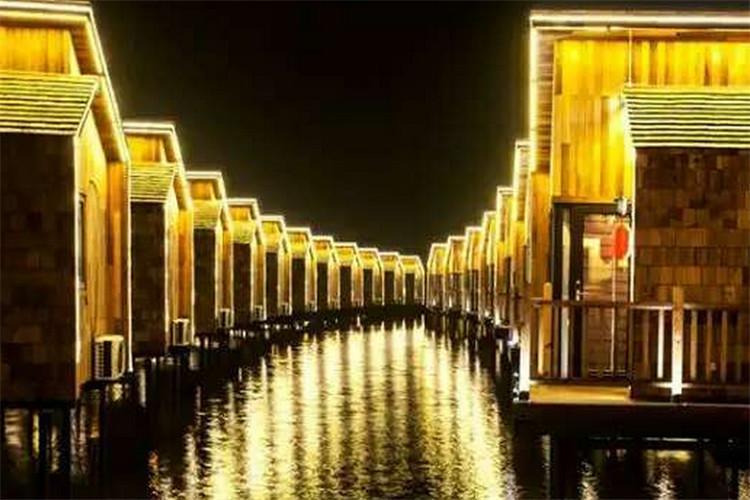 唐山人间天堂马尔代夫1晚月坨岛水上木屋+往返船票,浪漫之约从这里点燃