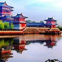 泰州凤城河桃园景区