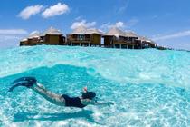 <单酒店预订>马尔代夫太阳岛 2沙2水 早晚餐 送跳岛游+每天喂鱼活动