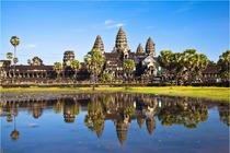 赠中文司机+接机一次柬埔寨暹粒吴哥三日大小外圈女王宫+崩密列+洞里萨湖