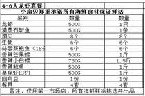 特惠三亚小扇贝4-6人龙虾套餐(仅限第一市场店使用)